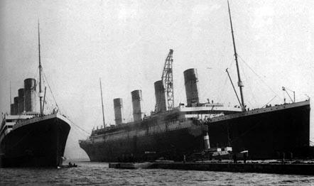 titanic, olimpic, britannic