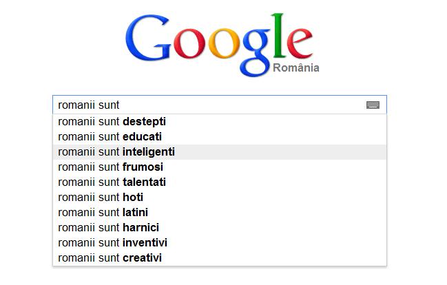 google romanii sunt