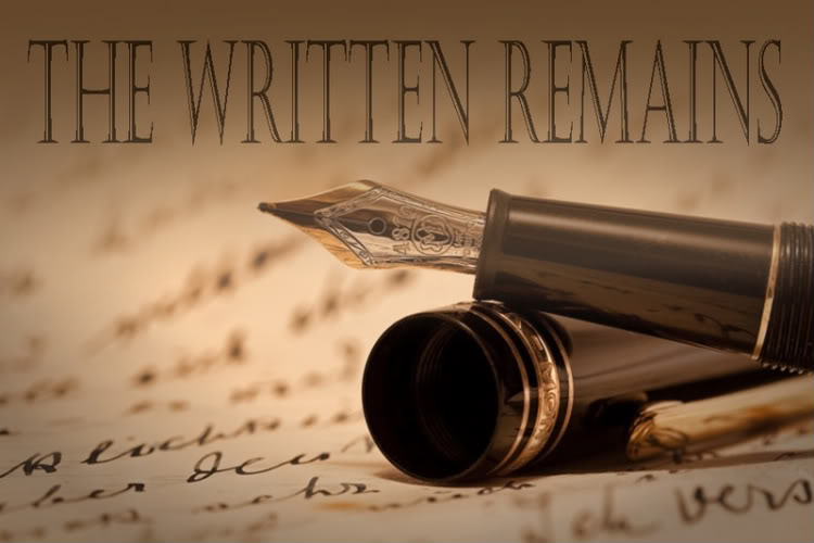 the written remains