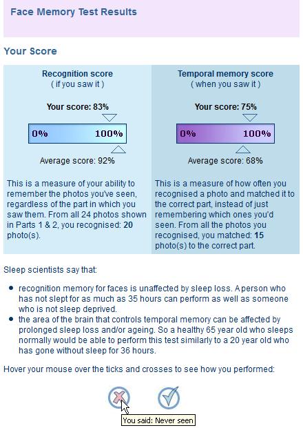 testarea memoriei vizuale