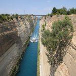 Poza cu canalul Corint