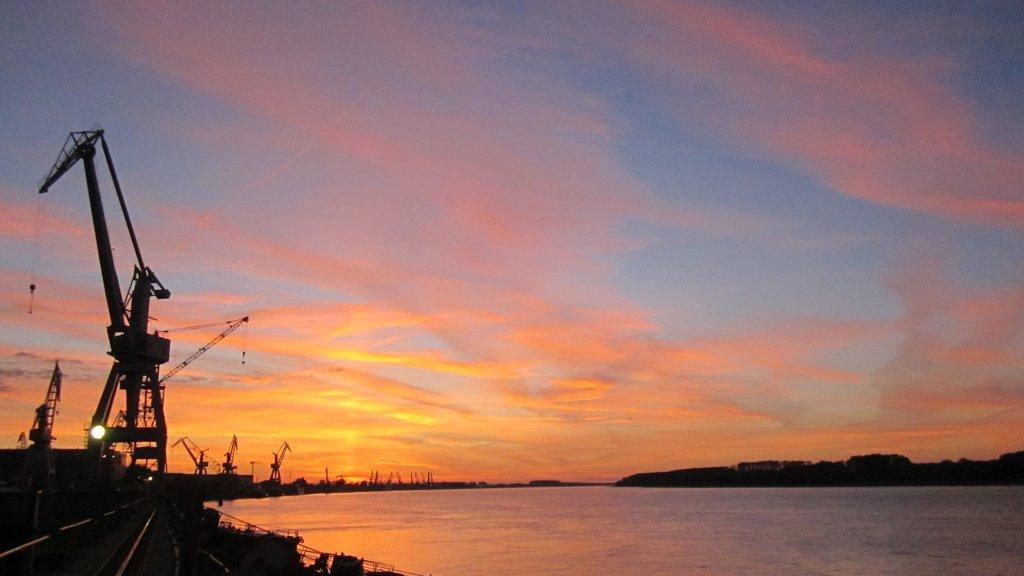 Danube sunrise Romania